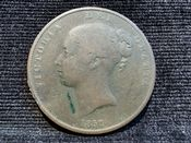 Victoria, Young Head One Penny 1857, Fair, AD512